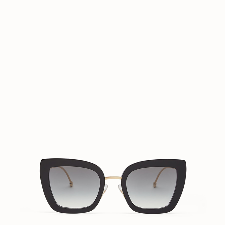 FENDI F IS FENDI - Black acetate and metal sunglasses - view 1 detail