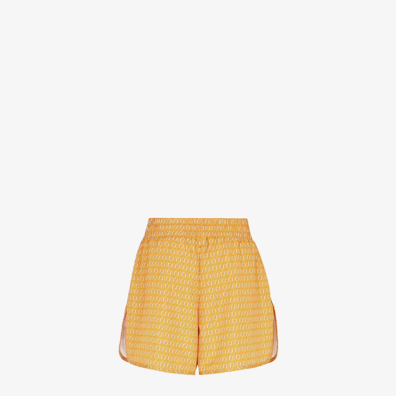 FENDI SHORTS - Orange nylon shorts - view 2 detail