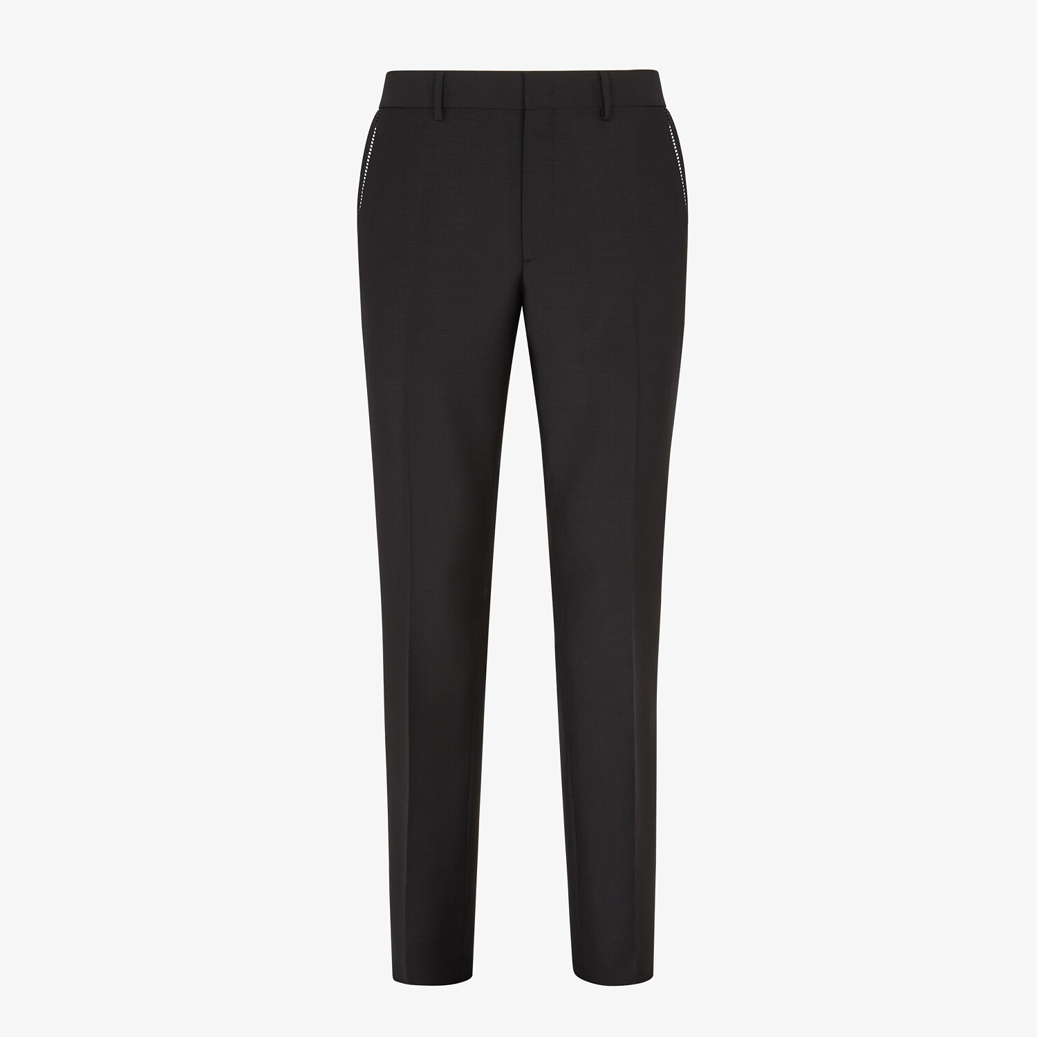 FENDI TROUSERS - Black wool trousers - view 1 detail