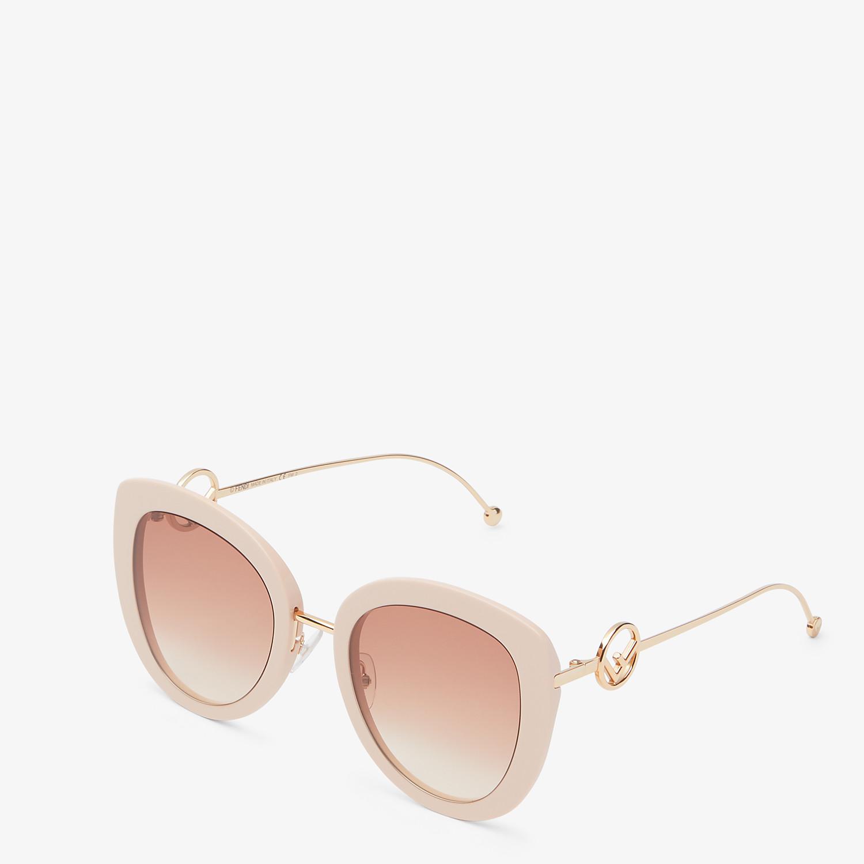 FENDI F IS FENDI - Pink acetate and metal sunglasses - view 2 detail