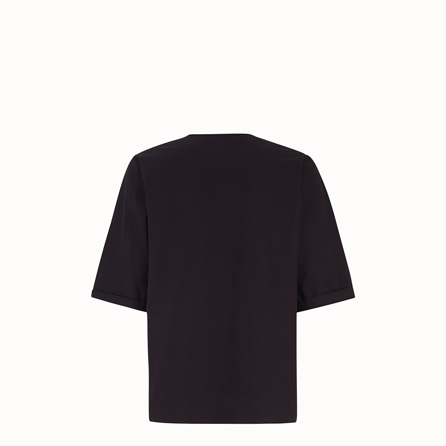 FENDI T-SHIRT - Black cotton shirt - view 2 detail