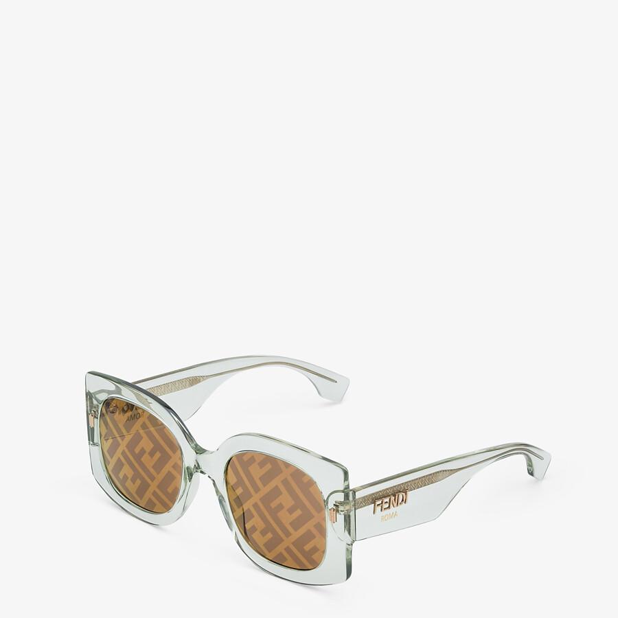 FENDI FENDI ROMA - Sunglasses in transparent green acetate - view 2 detail