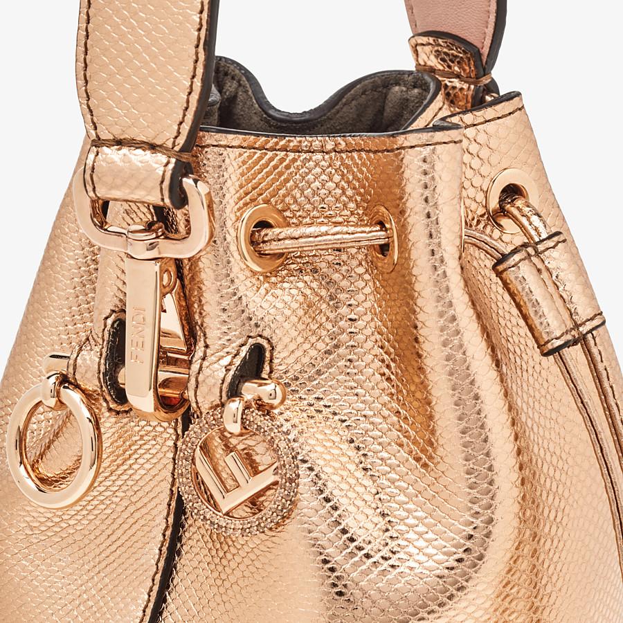 FENDI MON TRESOR - Rose gold karung mini-bag - view 5 detail