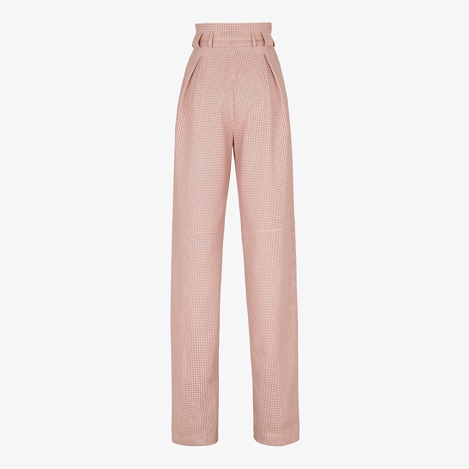 FENDI TROUSERS - Pink leather trousers - view 2 detail