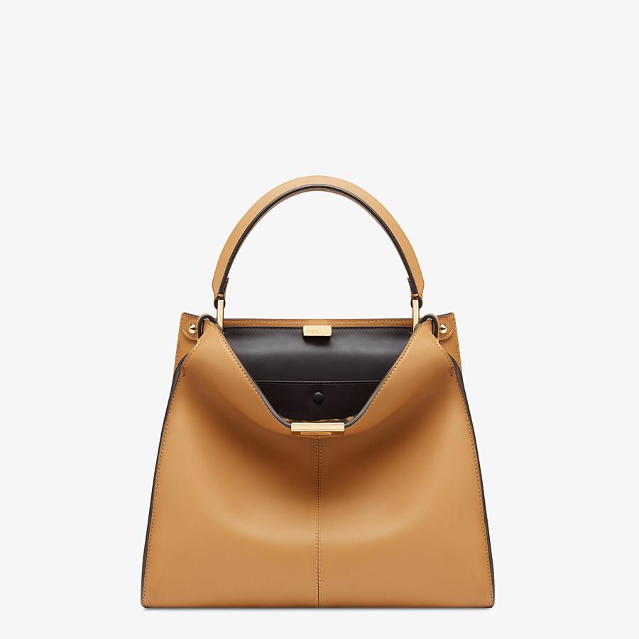 FENDI PEEKABOO X-LITE MEDIUM - Beige leather bag - view 2 detail