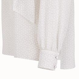FENDI BLOUSE - White crêpe de Chine blouse - view 3 thumbnail