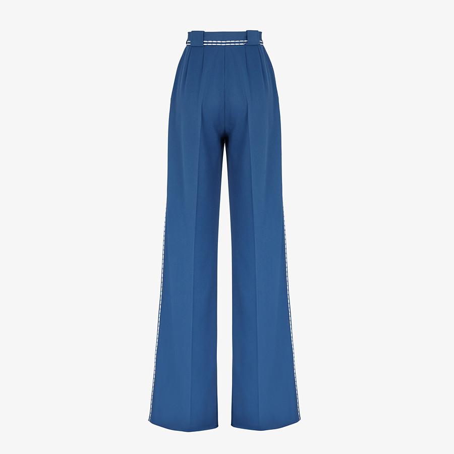 FENDI HOSE - Hose aus Wolle in Blau - view 2 detail