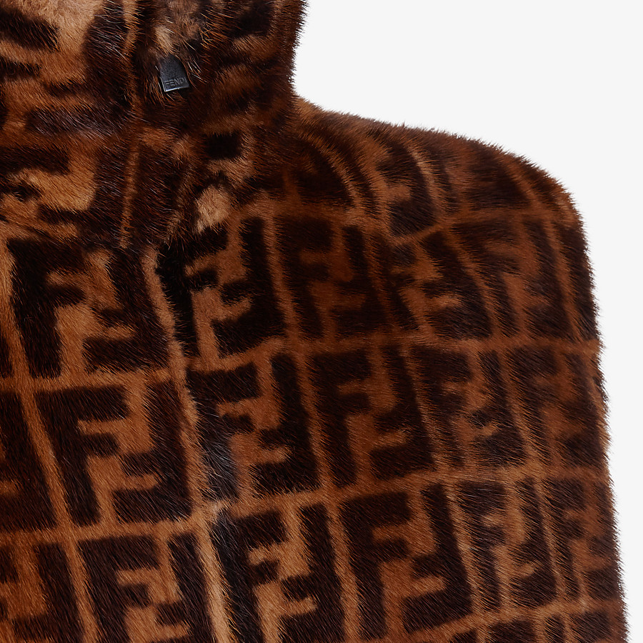 FENDI VEST - Brown mink vest - view 3 detail
