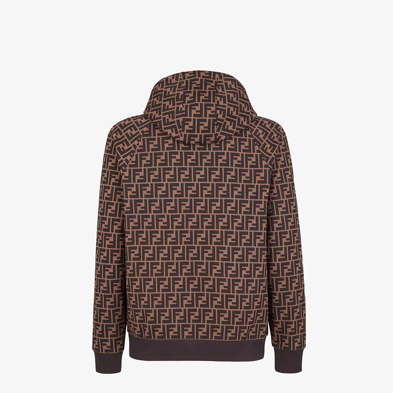 FENDI SWEATSHIRT - Brown cotton sweatshirt - view 2 detail
