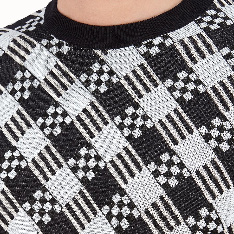 FENDI PULL - Pull en coton noir - view 3 detail