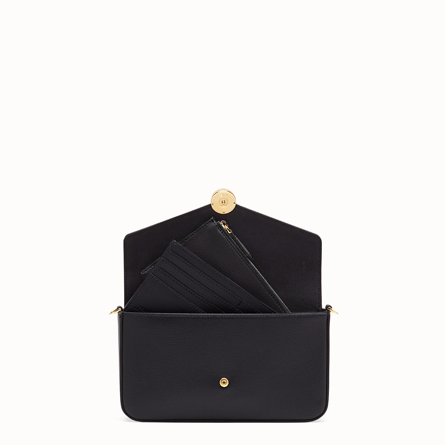 FENDI WALLET ON CHAIN WITH POUCHES - Black leather minibag - view 7 detail