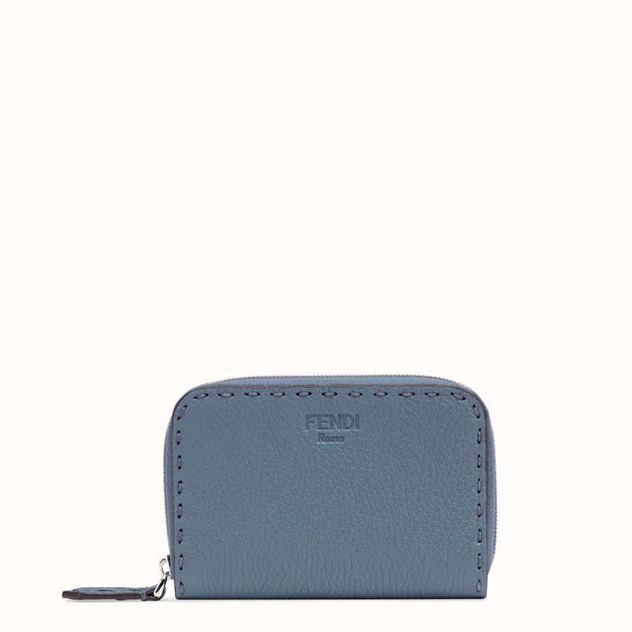 FENDI SMALL ZIP AROUND - Two-tone leather wallet - view 1 detail
