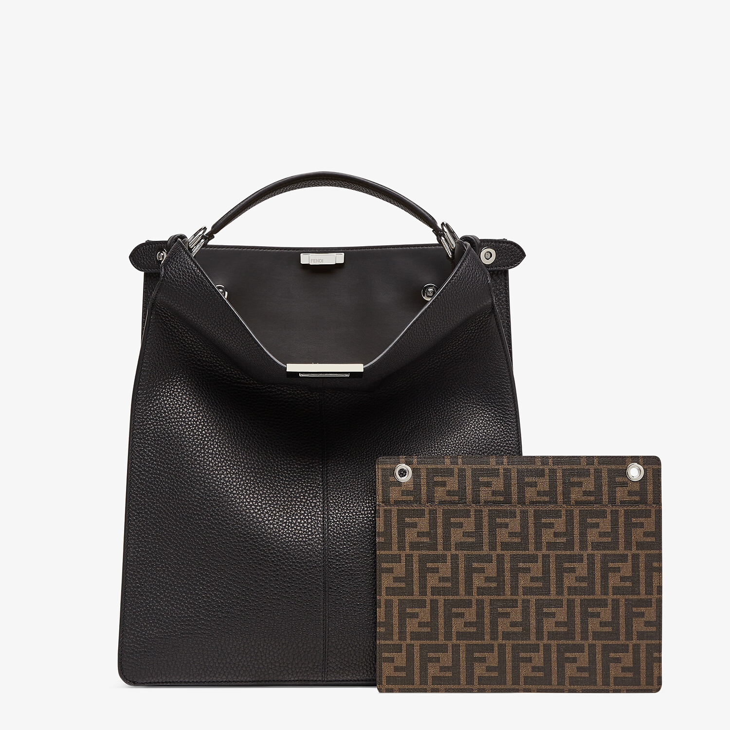 FENDI PEEKABOO ISEEU TOTE - Black leather bag - view 3 detail