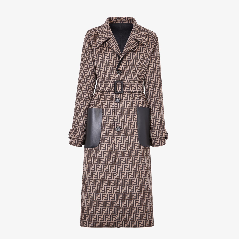FENDI OVERCOAT - Black wool coat - view 4 detail