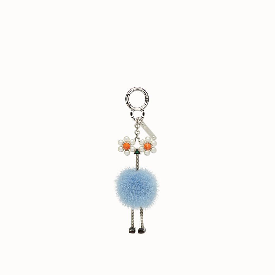 FENDI CHICK手袋吊飾 - 淺藍色皮貂毛吊飾 - view 2 detail