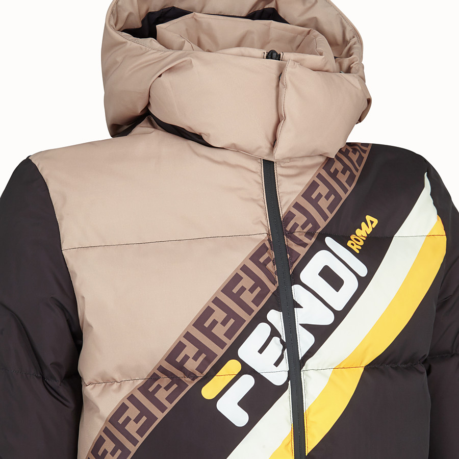 FENDI TITLE - Multicolour nylon down jacket - view 3 detail