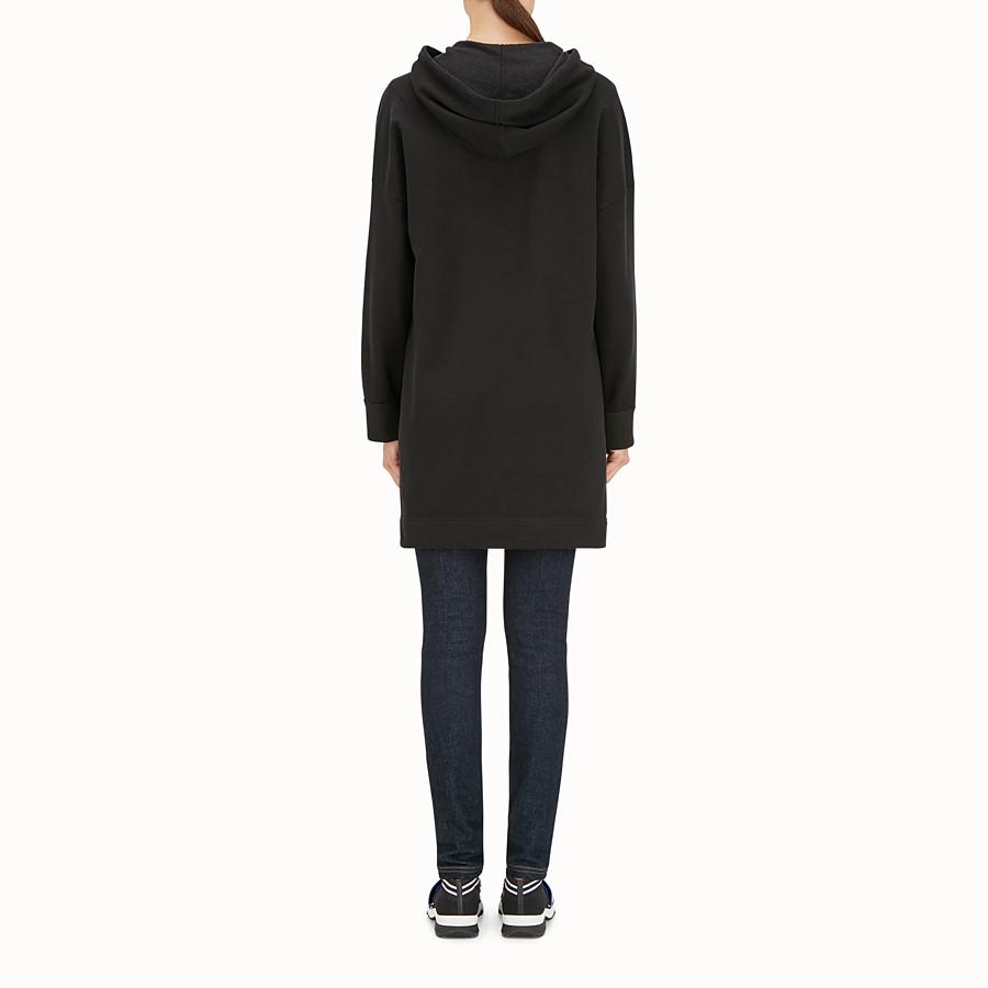 FENDI 運動衫 - 黑色棉質長運動衫 - view 3 detail
