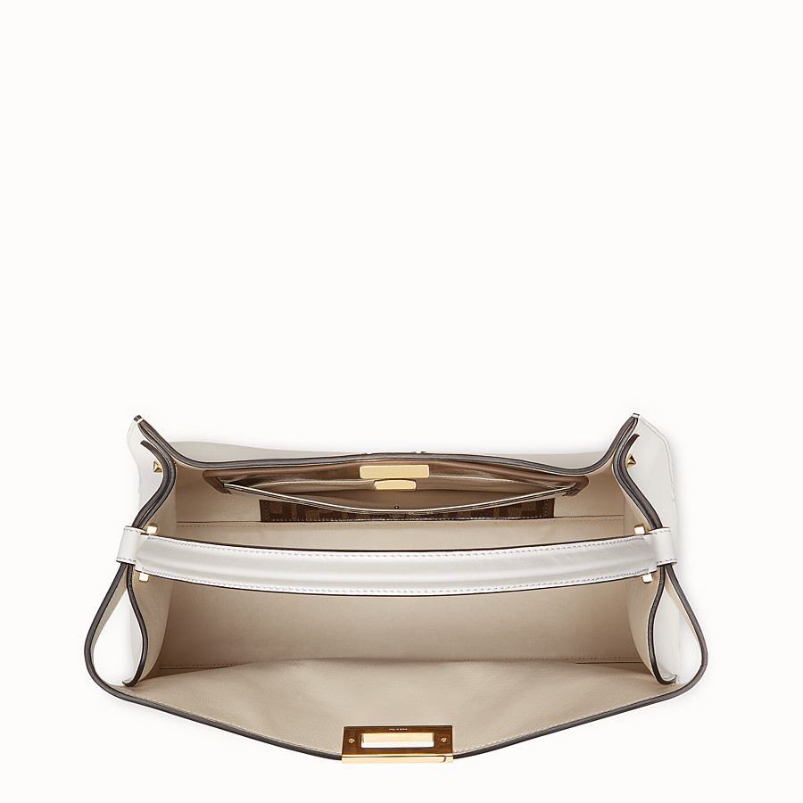 FENDI PEEKABOO X-LITE - White leather bag - view 5 detail