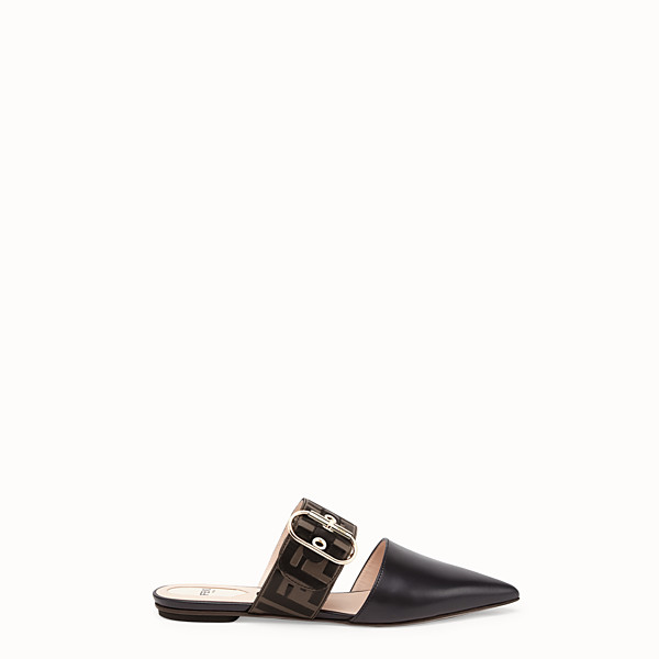 FENDI SLINGBACK - Black leather slingbacks - view 1 small thumbnail
