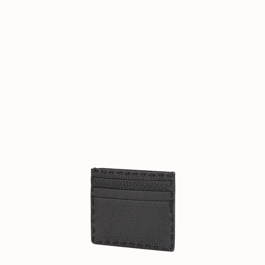 FENDI CARD HOLDER - Selleria 6-slot card holder in black - view 2 detail