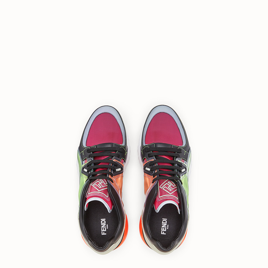 FENDI SNEAKERS - Multicolour leather sneakers - view 4 detail