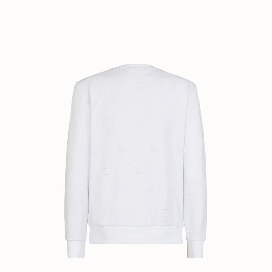 FENDI FELPA - Felpa in cotone bianco - vista 2 dettaglio