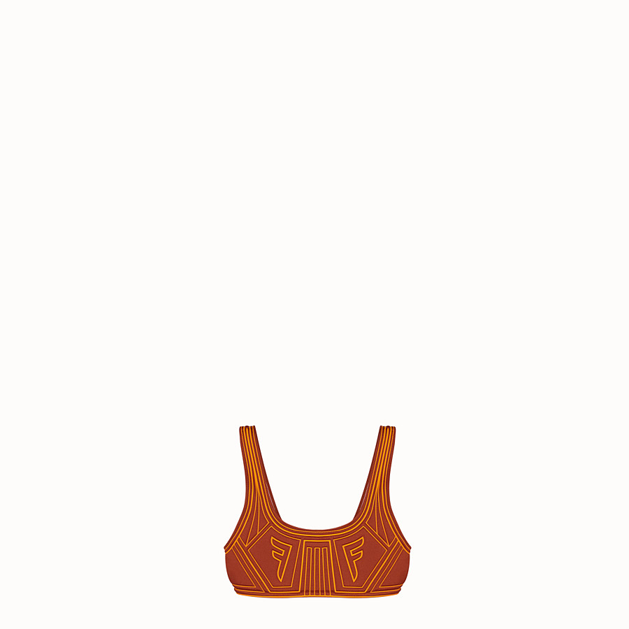 FENDI TOP - Brown Lycra top - view 1 detail