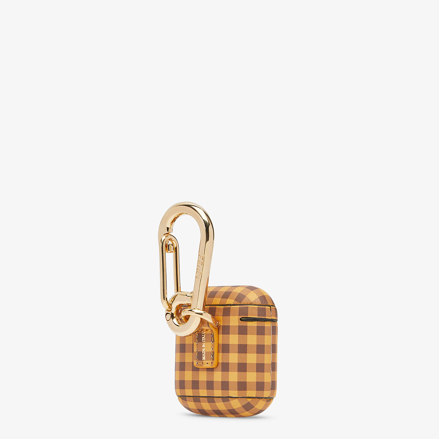 FENDI AIRPODS COVER - Brown leather cover - view 2 detail