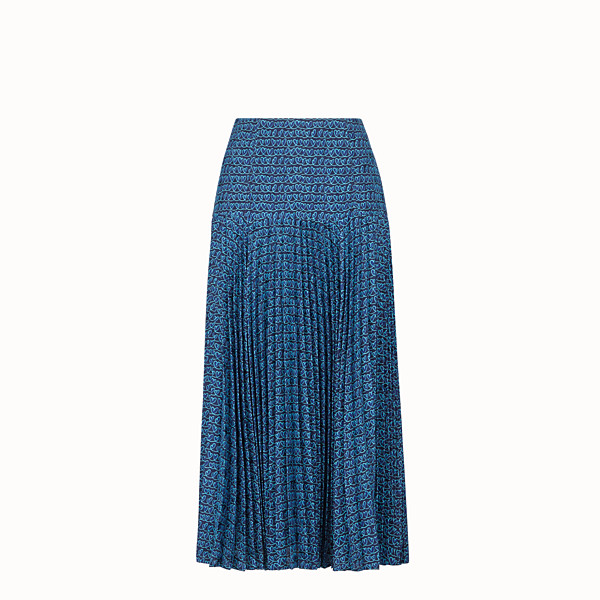 FENDI SKIRT - Blue satin skirt - view 1 small thumbnail