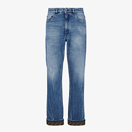 FENDI DENIM - Dark blue denim jeans - view 1 thumbnail