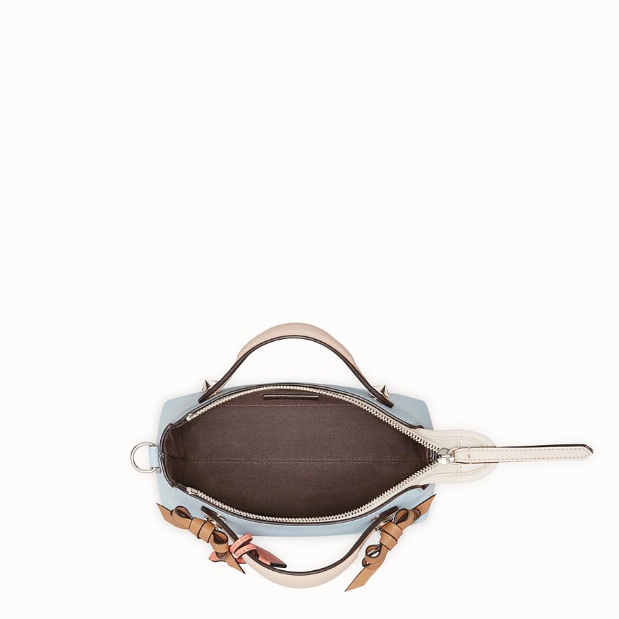FENDI BY THE WAY MINI - 小型款淺藍色皮革波士頓手提包 - view 4 detail