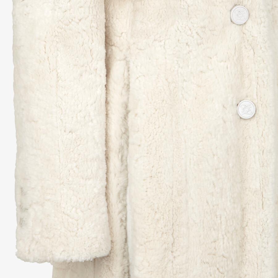 FENDI COAT - White mink coat - view 3 detail