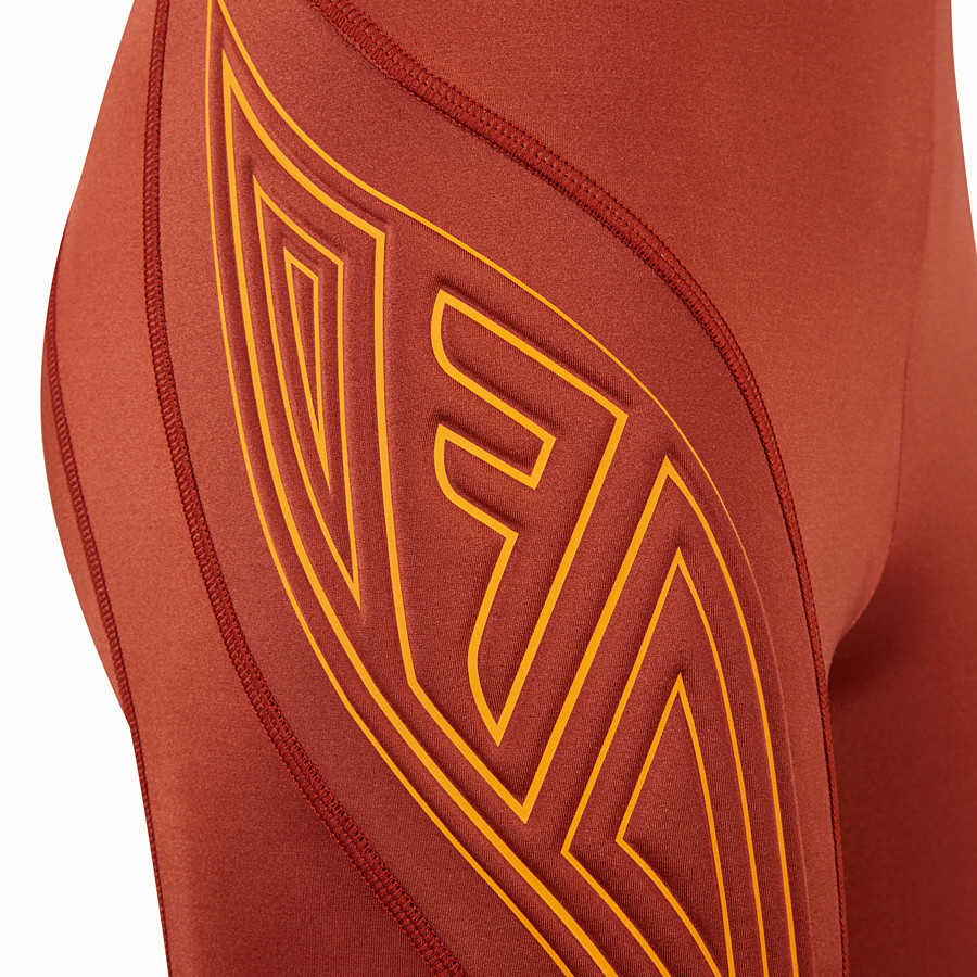 FENDI CYCLIST BERMUDAS - Brown lycra shorts - view 3 detail