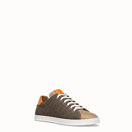 FENDI SNEAKER - Low-Top-Sneaker aus Canvas in mehrfarbigem Leder - view 2 thumbnail