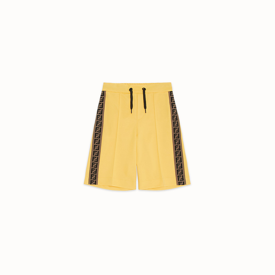 FENDI BERMUDAS - Yellow tech fabric bermudas - view 1 detail