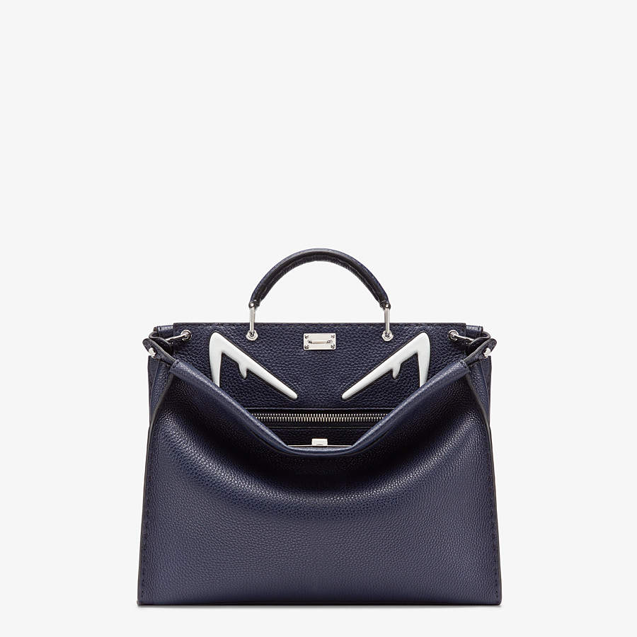 FENDI PEEKABOO ICONIC FIT - Tasche aus Leder in Blau - view 1 detail