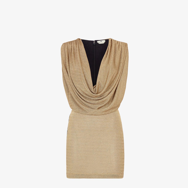 FENDI DRESS - Gold Lurex dress - view 1 detail