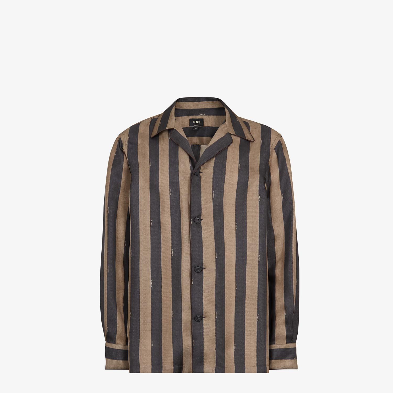 FENDI 恤衫 - 棕色真絲恤衫 - view 1 detail