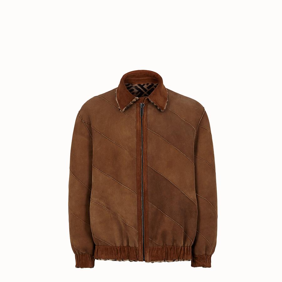 FENDI 外套 - 棕色羊皮外套 - view 4 detail