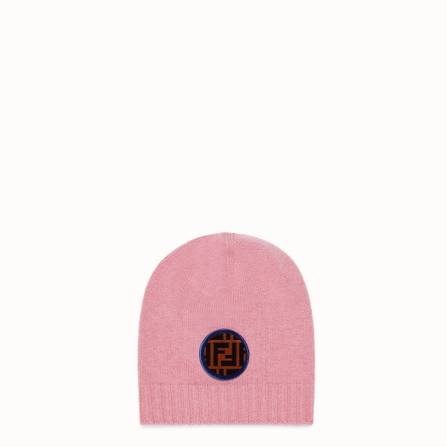 FENDI HAT - Pink wool and cashmere hat - view 1 detail