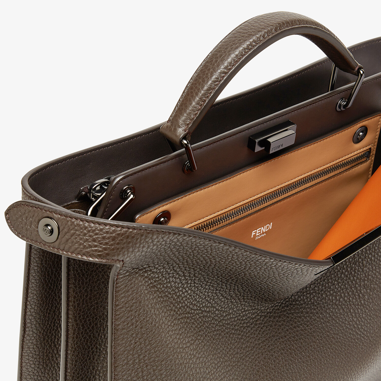 FENDI PEEKABOO ISEEU MEDIUM - Brown leather bag - view 6 detail