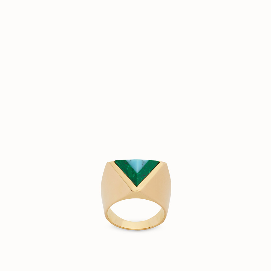 FENDI RAINBOW RING - Rainbow ring in metal and stone - view 1 detail