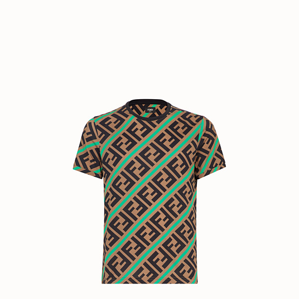 FENDI T-SHIRT - T-Shirt aus Baumwolle in Beige - view 1 small thumbnail