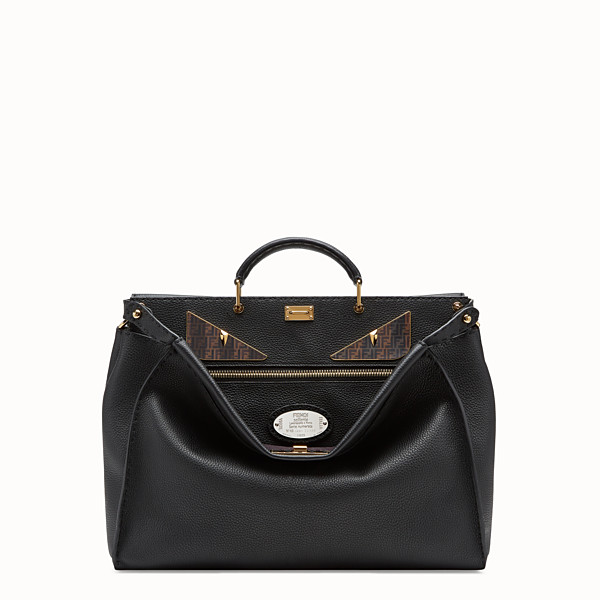 FENDI PEEKABOO MEDIUM - Black leather bag - view 1 small thumbnail