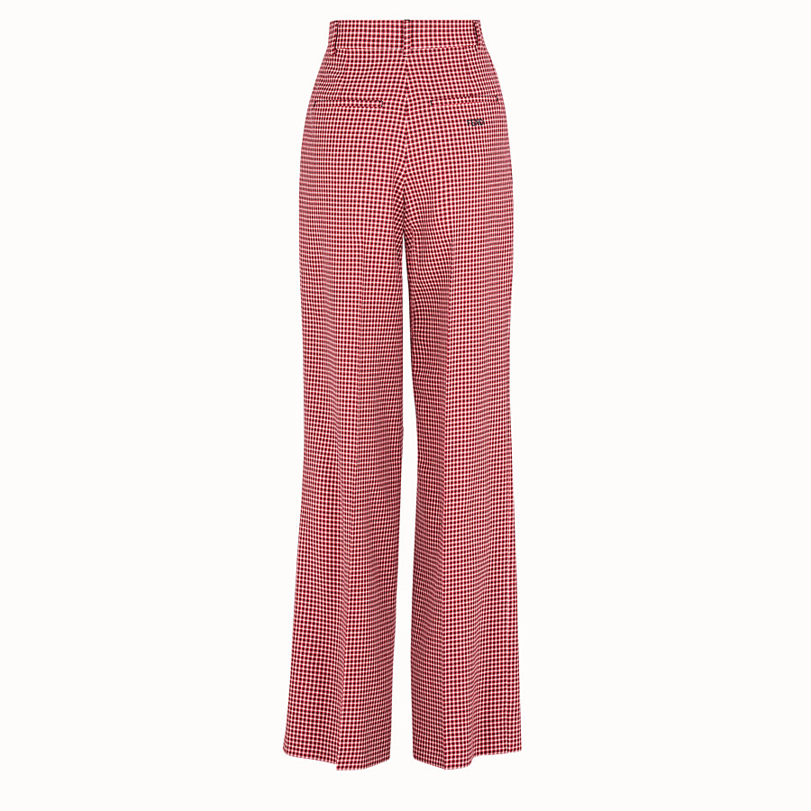 FENDI TROUSERS - Multicolour wool trousers - view 2 detail