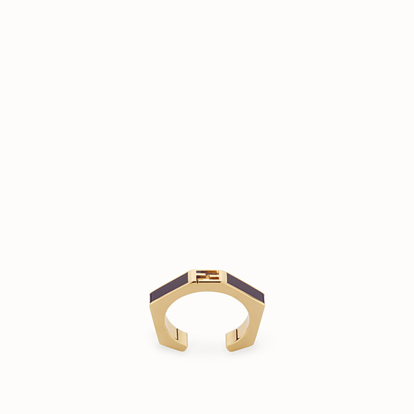 FENDI BAGUETTE RING - Polished purple Baguette ring - view 1 small thumbnail