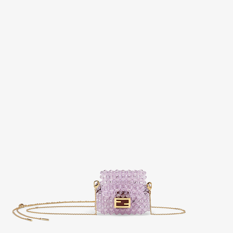 FENDI HEADPHONE HOLDER - Charm with lilac beads - view 1 detail