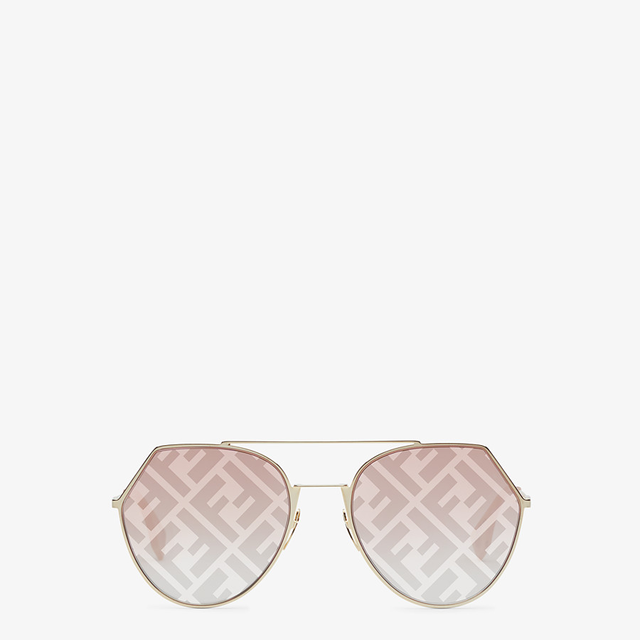 FENDI EYELINE - Gold-colored sunglasses - view 1 detail