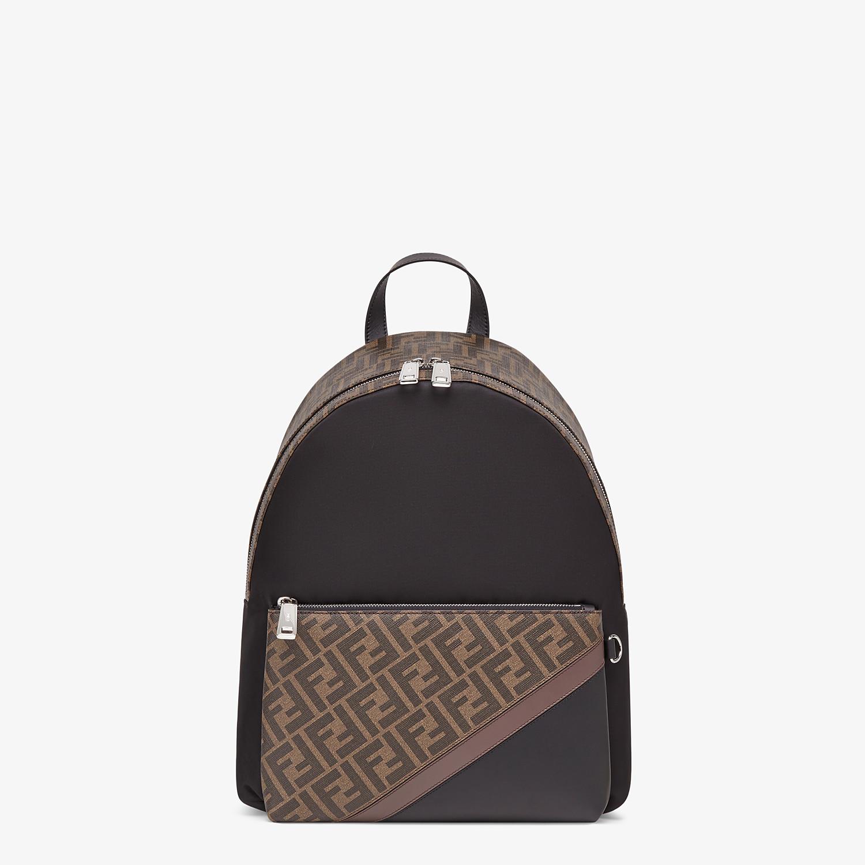 FENDI BACKPACK - Black nylon backpack - view 1 detail