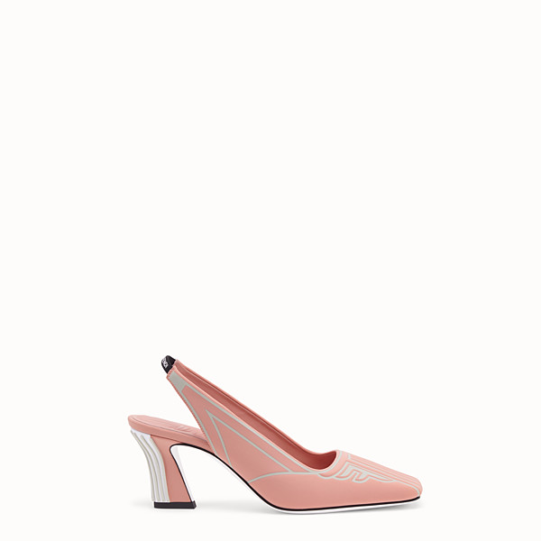 FENDI COURT SHOES - Slingback in pink fabric - view 1 small thumbnail